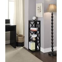 Copper Grove Nolina Wood 3-tier Corner Bookcase