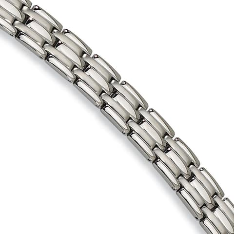 Chisel Stainless Steel Brushed and Polished 8.5 Inch Bracelet
