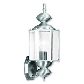 Livex Lighting Outdoor Basics Brushed Nickel 1-light Outdoor Wall Lantern