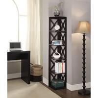 The Gray Barn Pitchfork 5-tier Corner Bookcase
