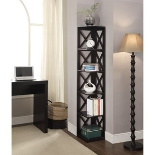 Convenience Concepts Oxford Wooden 5-tier Corner Bookcase