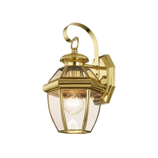 Brass Outdoor Garage Lights: Shop Livex Lighting Monterey Gold Brass 1-light Outdoor