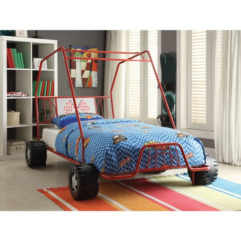 Xander Red Twin Bed