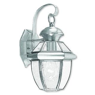 Livex Lighting Monterey Brushed Nickel 1-light Outdoor Wall Lantern