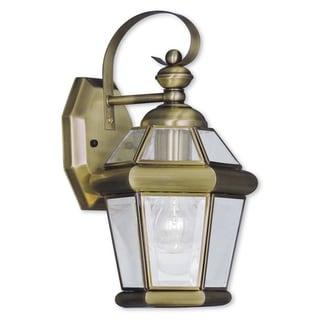 Livex Lighting Georgetown Gold Brass 1-light Outdoor Wall Lantern