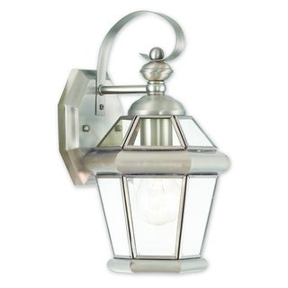 Livex Lighting Georgetown Silver Brass 1-light Outdoor Wall Lantern