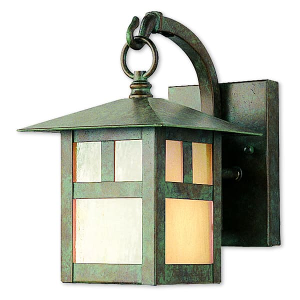 Livex Lighting Montclair Mission Verde Patina Outdoor Wall Lantern