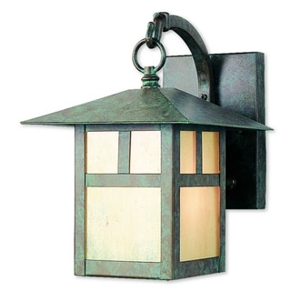 Livex Lighting Montclair Mission 2131-16 Verde Brass 1-light Patina Outdoor Wall Lantern