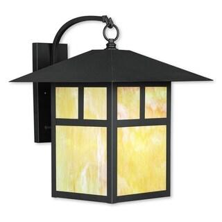 Livex Lighting Montclair Mission Bronze-finish Brass 16-inch x 20.5-inch x 18-inch 1-light Outdoor Wall Lantern