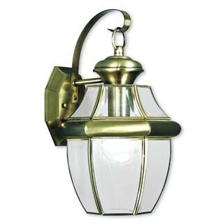 Livex Lighting Monterey Antique Brass Outdoor Wall Lantern