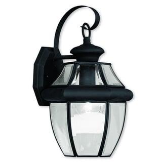 Livex Lighting Monterey Black Brass 1-light Hanging Outdoor Wall Lantern