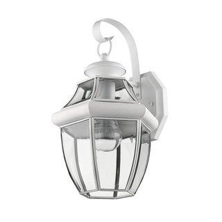 Livex Lighting Monterey White Brass 1-light Outdoor Wall Lantern