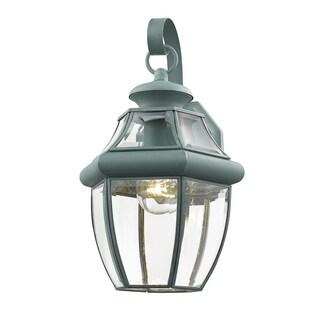 Livex Lighting Monterey 2151-06 Verdigris Brass 1-light Outdoor Wall Lantern