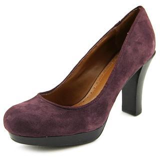 Adrienne Vittadini Women's Marve Purple Suede Regular Dress Shoes