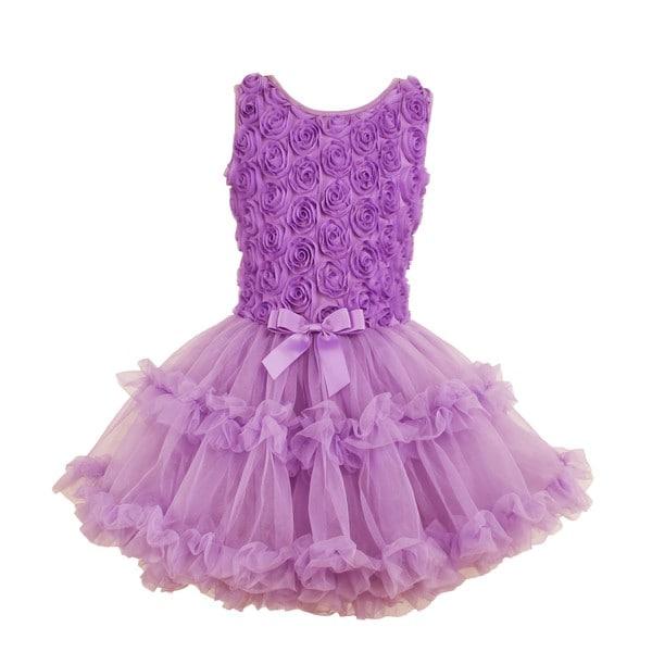 92903e9d2b541 Shop Popatu Girls' Lavender Soutache Flower Petti Dress - Free ...