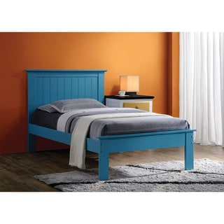 Prentiss Collection Blue Wood Queen Panel Bed