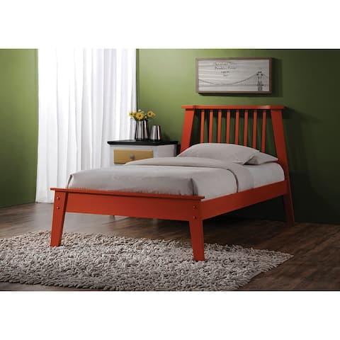 Marlton Orange Wood Queen Bed Set