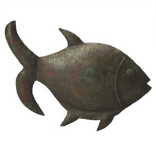Butler Green Iron Reef Fish Figurine
