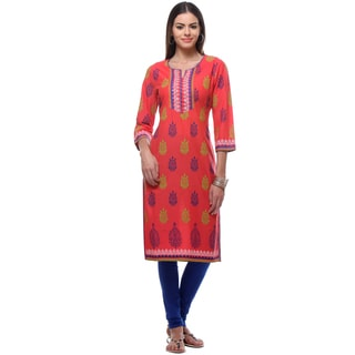 In-Sattva Women's Indian Classic Pattern Kurta Tunic