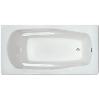 Signature White Acrylic Reversible Bathtub