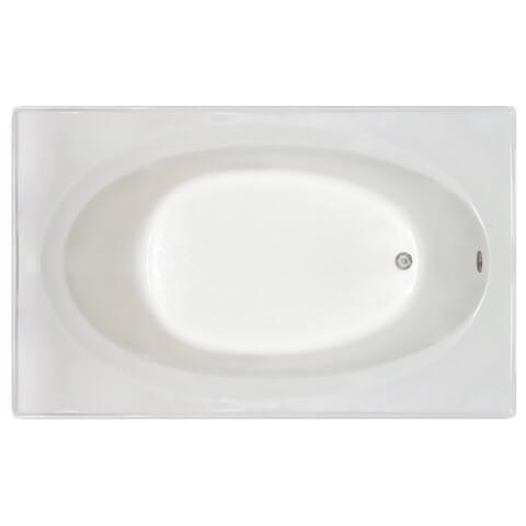 Signature Bath White Acrylic 72-inch x 42-inch x 19-inch Drop-in Bath