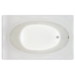 Signature Bath White Acrylic 72-inch x 42-inch x 19-inch Drop-in Bath