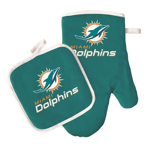Miami Dolphins NFL Logo Oven Mitt and Pot Holder