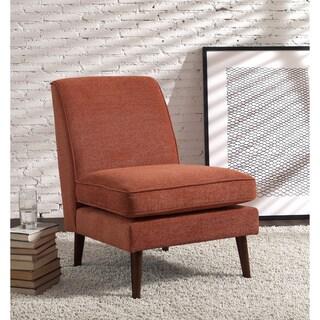Elnora Rubberwood and Fabric Slipper Chair