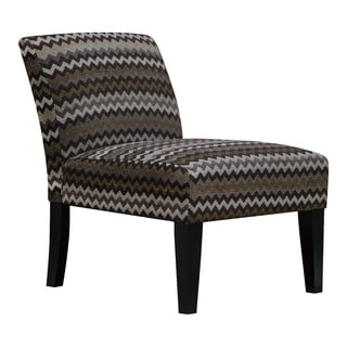 Reaction Chocolate Chevron Armless Slipper Accent Chair