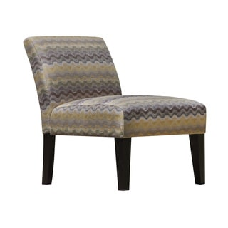 Multi Color Chevron Wow Pottery Armless Slipper Accent Chair