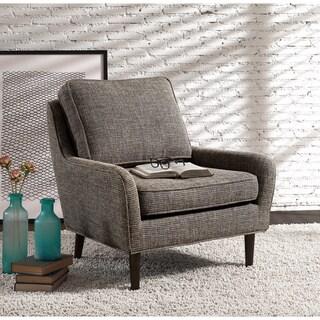 Arcadia Mid-century Upholstered Rubberwood Arm Chair