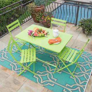 Corvus Cielo Outdoor 5-piece Green Folding Bistro Set|https://ak1.ostkcdn.com/images/products/12033716/P18906118.jpg?impolicy=medium