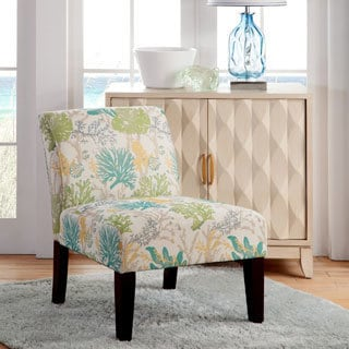 Lotus Flower Armless Slipper Accent Chair