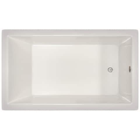 Signature Bath 72-inch x 42-inch x 18-inch Drop-in Bath - White