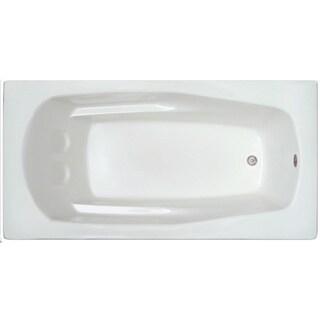 Signature Baths White Acrylic 66-inch x 32-inch x 17.5-inch Drop-in Bathtub