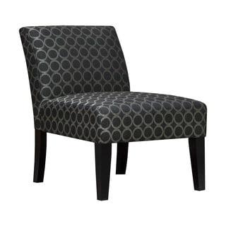 Graphite Circles Armless Slipper Accent Chair