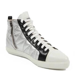 Miu Miu Women's 5T9039 3O76 F0QAW Silver Leather Sneakers https://ak1.ostkcdn.com/images/products/12033770/P18906177.jpg?impolicy=medium