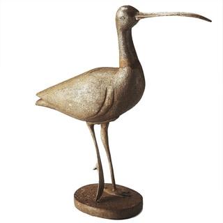Butler Great Egret Carved Wood Figurine