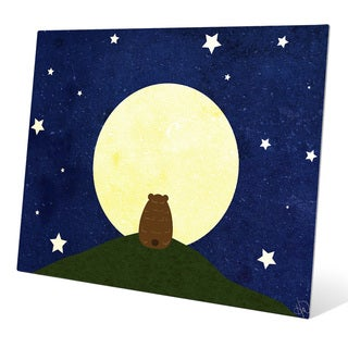 Art and Photo Decor 'Stargazing Bear' Graphic Metal Wall Art