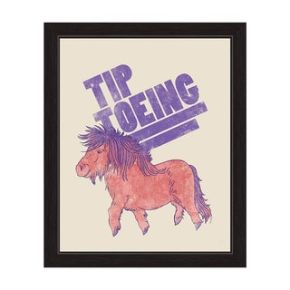 Art and Photo Decor 'Tip Toeing Pony' Graphic Wall Art Print with Black Frame