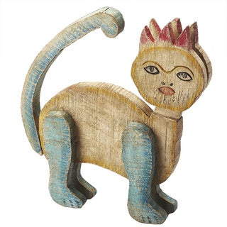 Butler Tabby Reclaimed Wood Cat Figurine