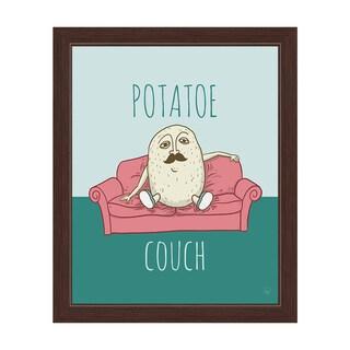 'Potatoe Couch' Graphic Espresso Frame Wall Art