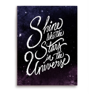 'Shine Like the Stars in the Universe' Graphic Wall Art on Wood