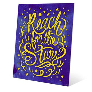 'Reach for the Stars' Graphic Wall Art on Metal
