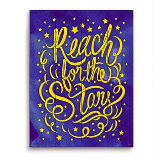 Art and Photo Decor 'Reach for the Stars' Graphic Wood Wall Art