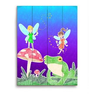'Fairies' Graphic Wood Wall Art