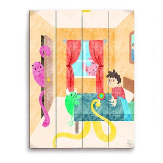 Art and Photo Decor 'Child's Imaginary Friends' Graphic Wood Wall Art