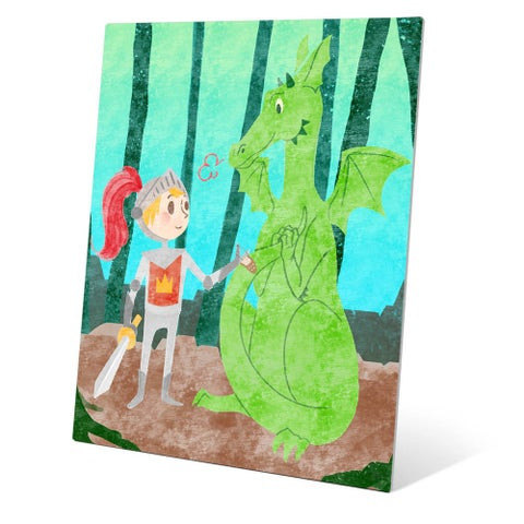 'Child's Dragon Fantasy' Graphic Metal Wall Art