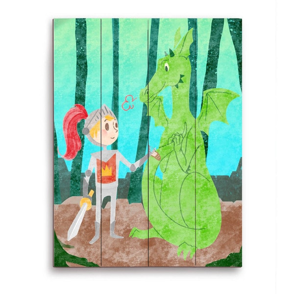 Art and Photo Decor 'Child's Dragon Fantasy' Graphic Wood Wall Art