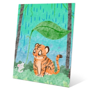 Children's 'Wild Animals' Friendship Graphic Wall Art on Metal